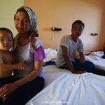 Families in operating centers in Leros island