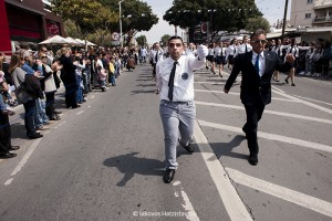 CYPRUS-LIMASSOL-NATIONAL PARADE-BLIND STUDENT