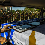 """In the orthodox church """"Wisdom of God"""" in Nicosia attended of the president of Cyprus Nicos Anastasiades was done the ceremony of the remains or part of the remains of seventeen Greek soldiers on 26 May, 2017 who died during the 1974 Turkish invasion.  The coffins of the 17 Greek nationals will handed over to Greece's by defence minister Panos Kammenos"""