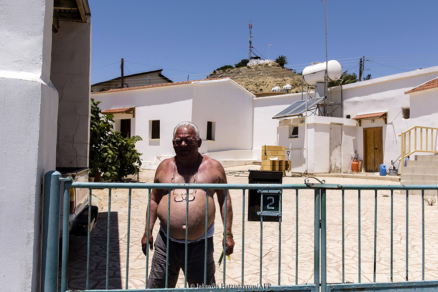 Pyla village is located in the eastern part of the islandi in Larnaca district and located within UNFICYP Buffer zone where Greek Cypriots and Tourkish Cypriots living in harmony together. A Greek Cypriot Mr. Pieris having the Tourkish military outspot on his back